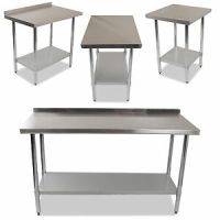 INDUSTRIAL COMMERCIAL STAINLESS STEEL KITCHEN FOOD PREP ...