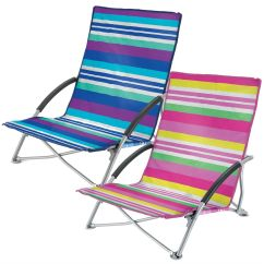 Folding Low Beach Chair White Wooden Chairs For Weddings Yello Camping Festival Pool