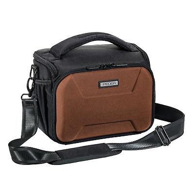SLR Kameratasche Schultertasche Umhängetasche Fototasche Regenschutz, braun XL
