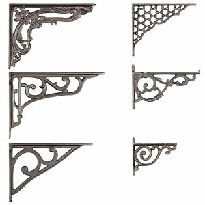 Cast Iron Wall Brackets Shelf Cistern Vintage Victorian