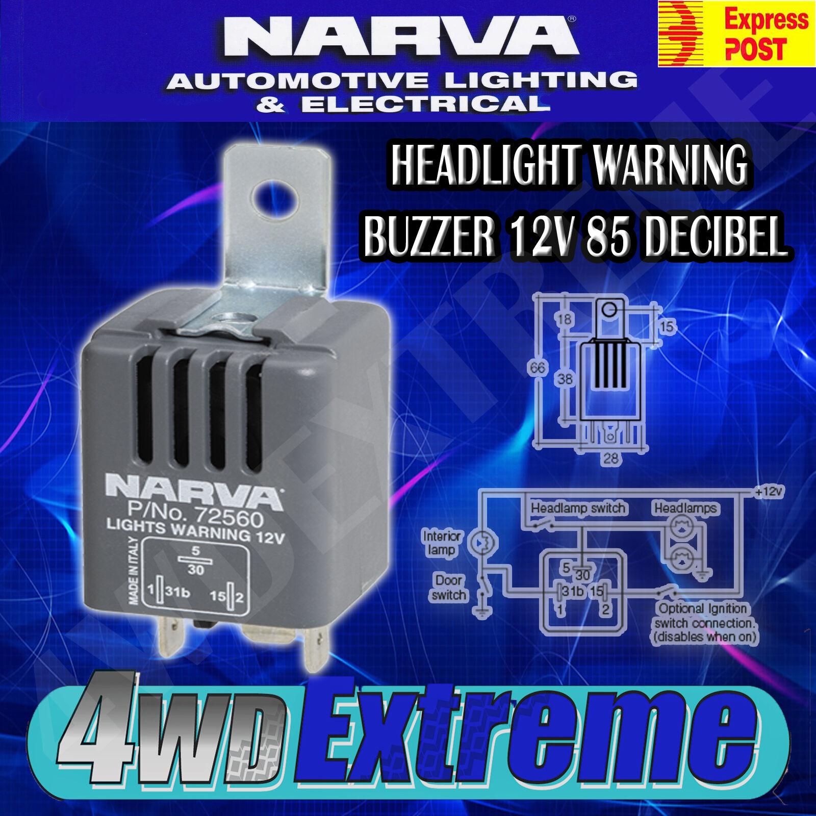 narva 12 volt relay wiring diagram 1999 jeep grand cherokee stereo headlight on warning buzzer 85 decibel