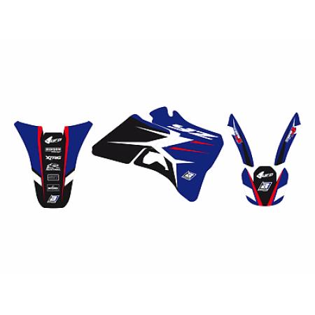 adesivi grafiche Yamaha Yz 125 250 1996 1997 1998 1999 2000 2001 moto Blackbird