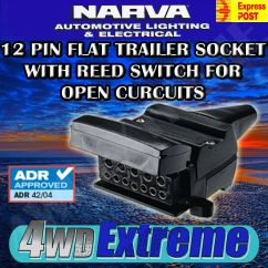 Narva 7 Pin Flat Wiring Diagram 2006 Cobalt Ss Stereo 12 Reed Switch Trailer Socket Connector