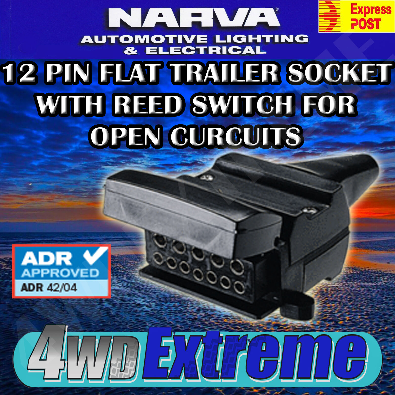 narva 5 pin trailer plug wiring diagram blitz power meter 12 flat reed switch socket connector 7