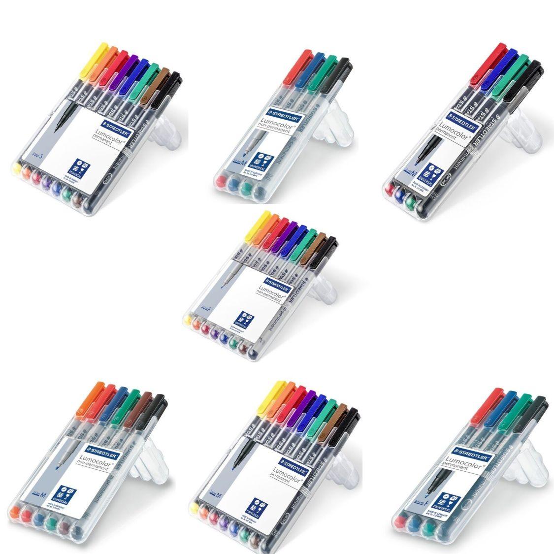 Staedtler Lumocolor Folienstift permanent  non-permanent Marker Etui 4er 6er 8er