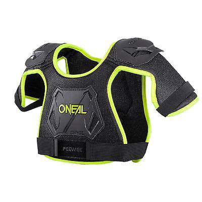 ONeal Peewee Neon Gelb Brust Panzer Protektor 4-9 Jahre Kinder Motocross MX MTB