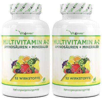 2x A-Z Multivitamin & Mineralien 700 Tabletten (V)  Zink, Selen, Vitamin A B D E