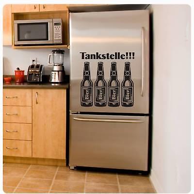Tankstelle Bier Kühlschrank Aufkleber Wandtattoo Wandaufkleber Küche Kaffee K006