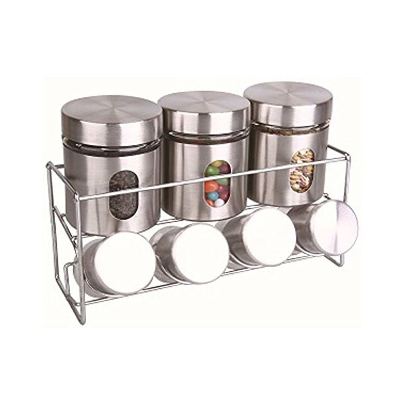 revolving spice racks for kitchen sink grid stainless steel glass collection of herb jar