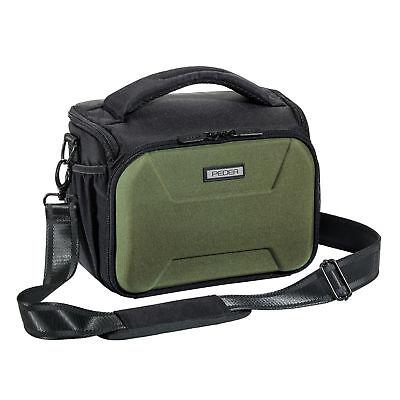 SLR Kameratasche Schultertasche Umhängetasche Fototasche Regenschutz, grün XL