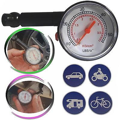 Reifendruckprüfer Reifendruckmesser Luftdruckprüfer Messgerät PKW LKW Fahrrad
