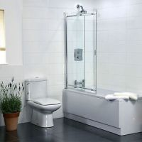 2 Panel Sliding Bath Shower Screen