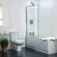 2 Panel Sliding Bath Shower Screen | eBay