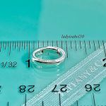 Tiffany & Co. Sterling Silver Oval Clasping Link Jump Ring Pendant Charm Holder