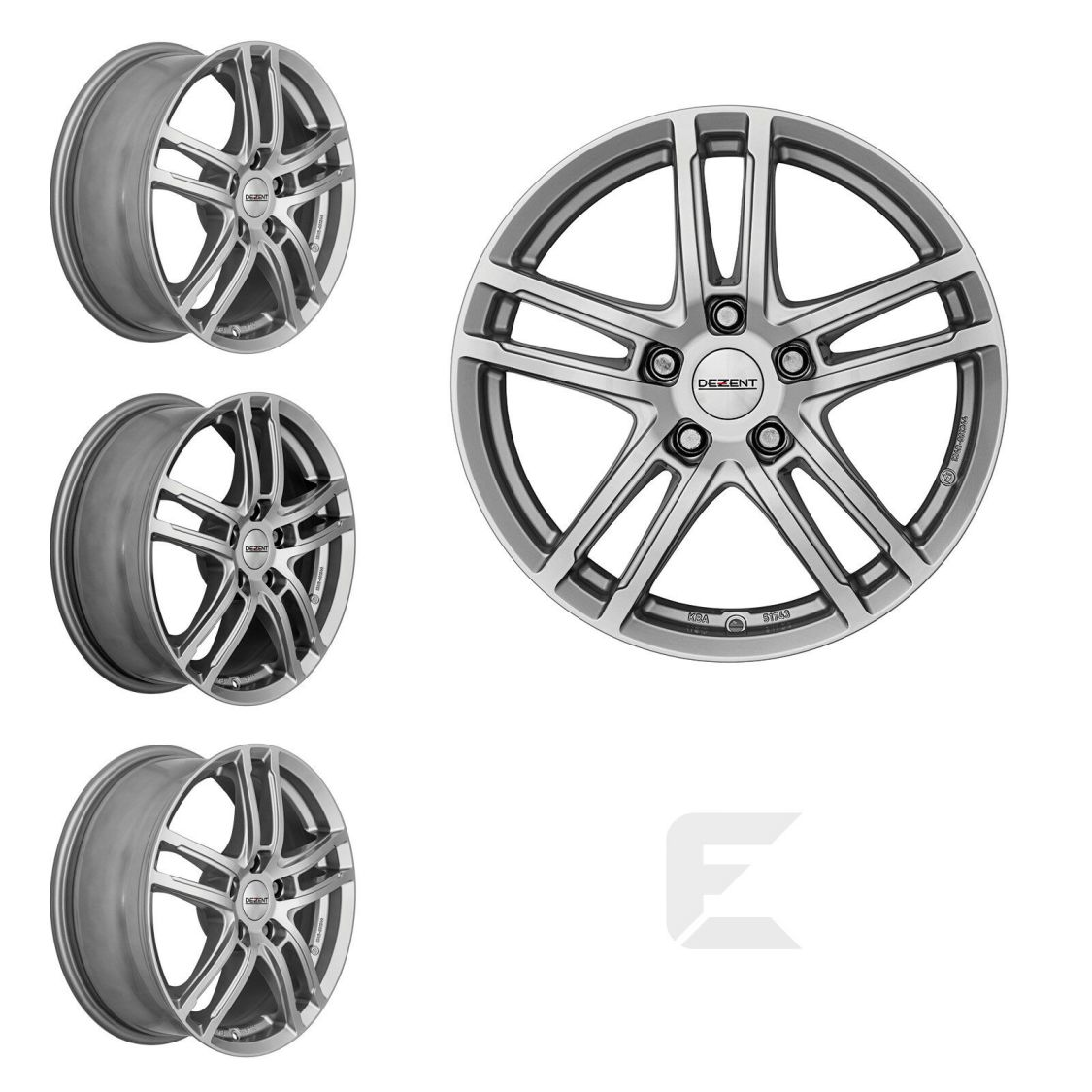 4x 18 Zoll Alufelgen für Ford Edge / Dezent TZ 7,5x18 ET50 (B-8300263)