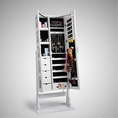 Schmuckschrank Standspiegel Wandschrank Schmuckkasten Schmuckkommode MB0005ws