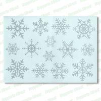 Christmas Angel Window Clings 28 Glitter Snowflakes ...