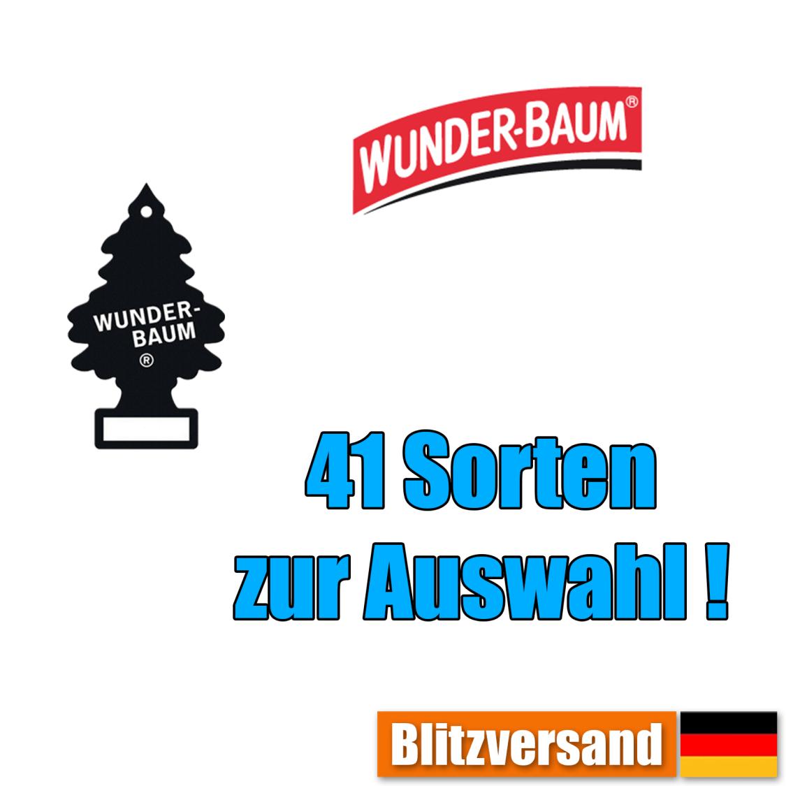Wunderbaum Lufterfrischer Wunder Duft Baum Auto Duft Car Vanille Black Ice Gum