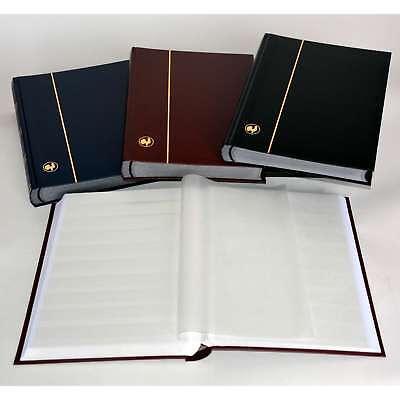 GOLDHAHN-Luxus-60 weiße Seiten A4 Briefmarkenalbum Einsteckbuch