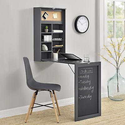 [en.casa]® Wandtisch Grau Schreibtisch Tisch Regal Wand Klapptisch aus-klappbar