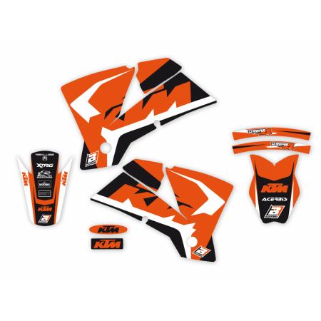 kit adesivi grafiche moto Ktm Exc f Sx Sxf 2001 2002 2003 2004 2517N Blackbird