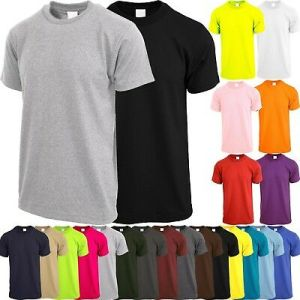 Mens Crew Neck T SHIRTS ACTIVE Solid Tee Short Sleeve Comfort Summer Basic