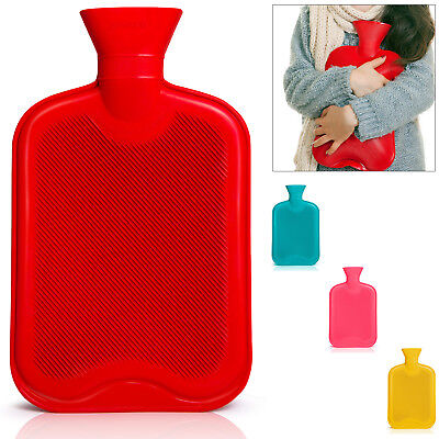 Wärmflasche Bettflasche 2 L Naturgummi Wärmekissen Wärme Flasche Kuscheln