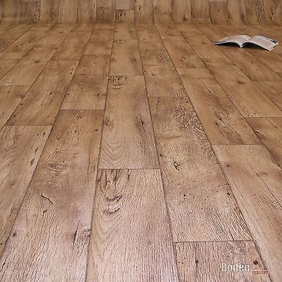 PVC Bodenbelag Holz Rustikal Natur CV Vinyl Breite 2/3/4 m (10,90 €/m²)