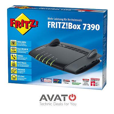 AVM FRITZBox 7390 BLACK EDITION VDSL DSL Modem Gigabit *2 Jahre Gewährleistung