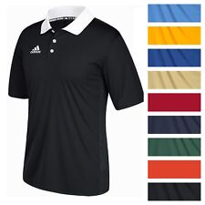 adidas Men's Game Built CLIMALITE Polo Athletic Coaching Casual Golf T-S...