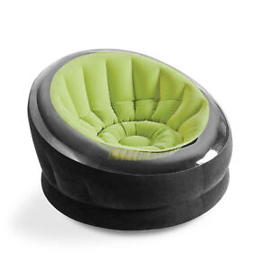 dorm room chair hanging name ebay intex empire inflatable blow up lounge camping for adults lime green