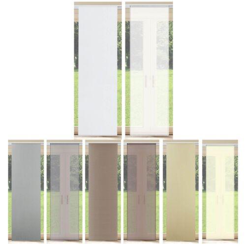 Schiebevorhang Schiebegardine transparent o. Blickdicht Flächen-Vorhang Gardine