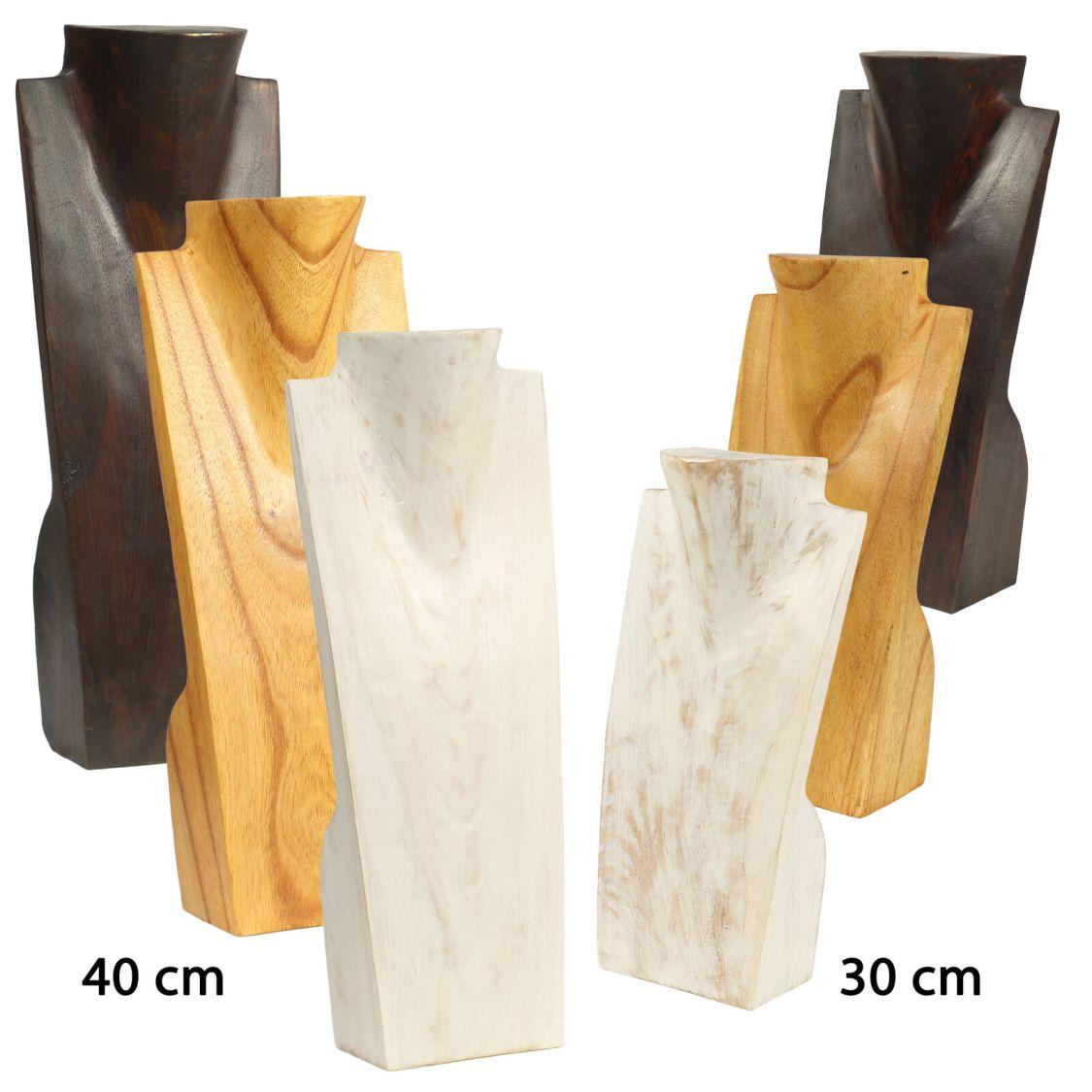 Schmuckhalter Büste Schmuckständer Schmuck Ketten Halskette Holz Kettenhalter