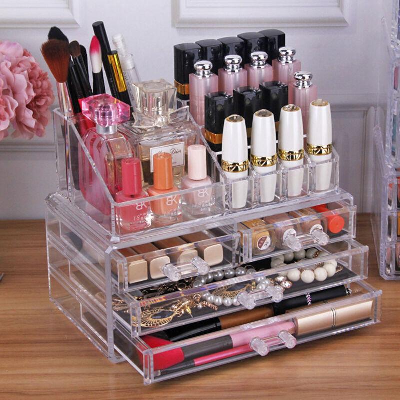 Make Up Organizer, Kosmetikregal, Schminkaufbewahrung, Make Up Ständer, 4 Box
