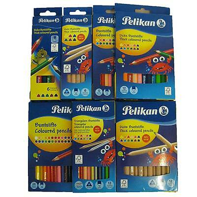 Pelikan Buntstifte 6 12 24 dicke jumbo normal Buntstift Set Dreikant sechseckig