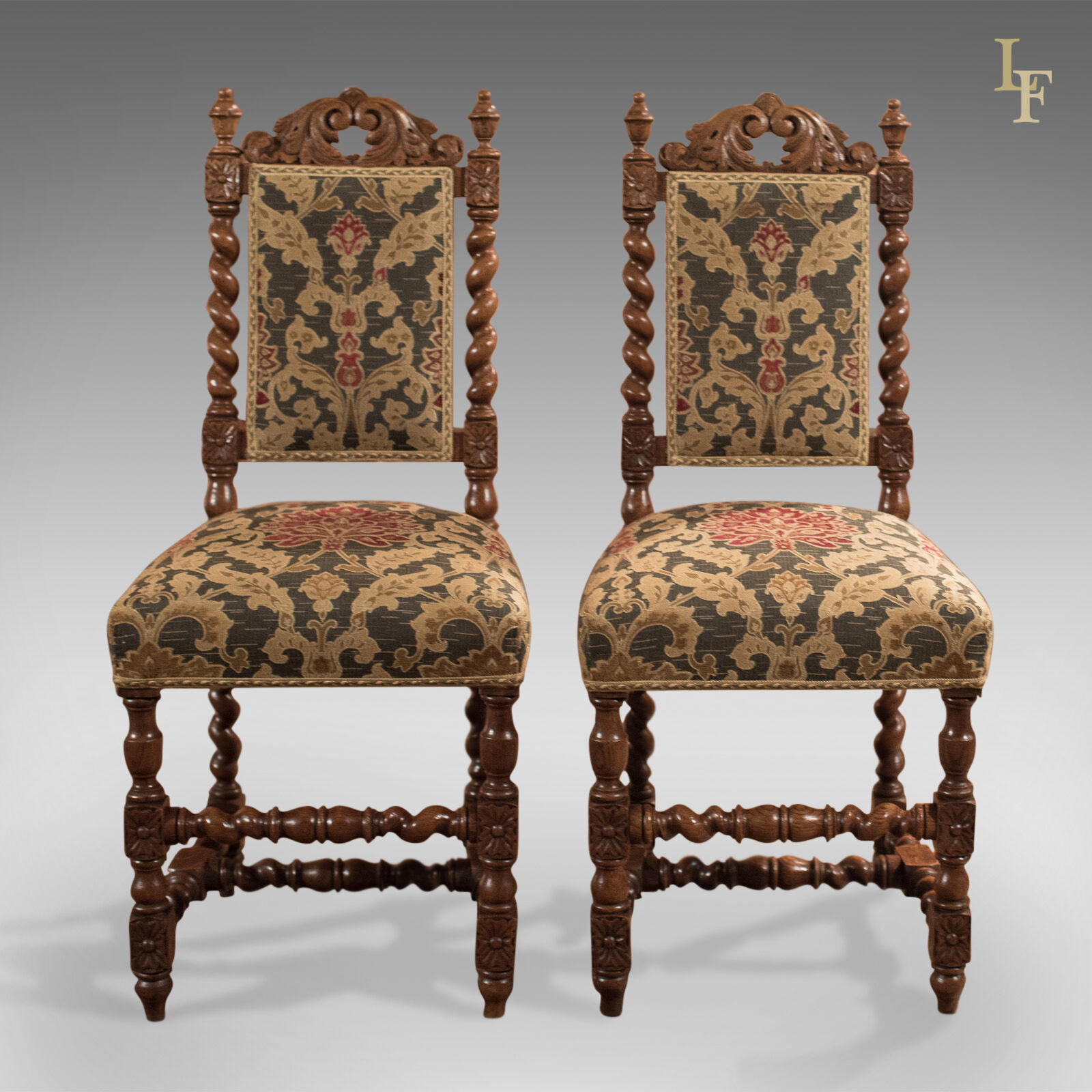 antique chairs ebay stacking patio chair covers pair of hall victorian oak needlepoint