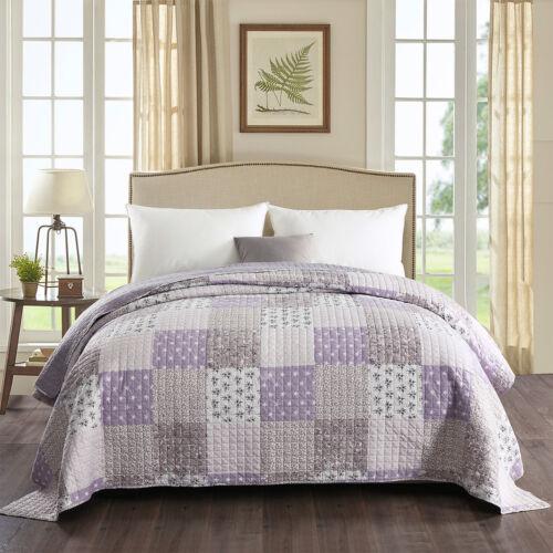 Tagesdecke Bett überwurf Steppdecke Plaid Decke Patchwork doppelseitig #1077-1