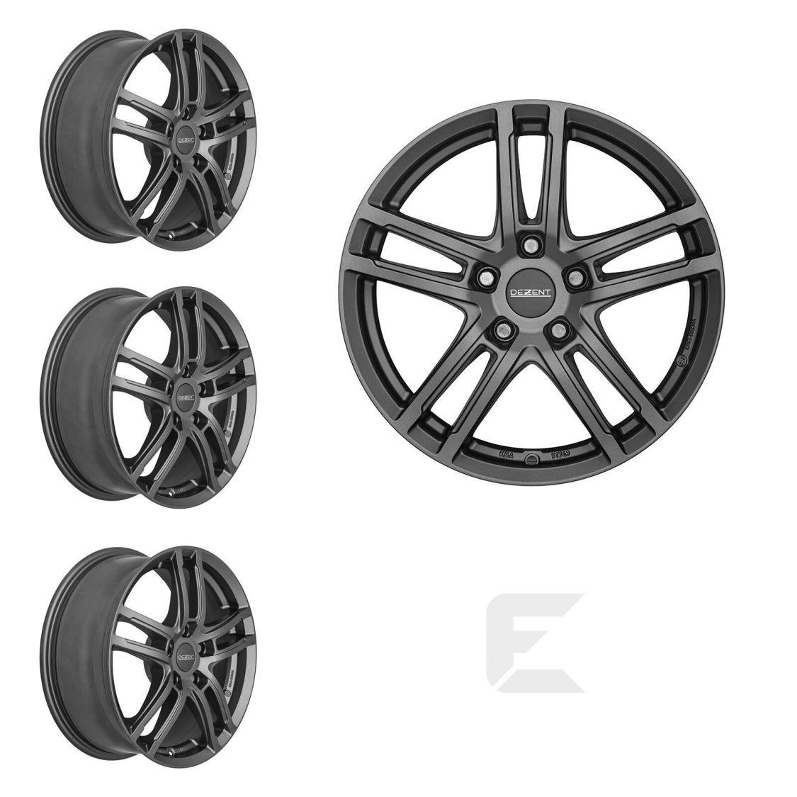 4x 16 Zoll Alufelgen für Nissan Leaf / Dezent TZ graphite (B-84029148)