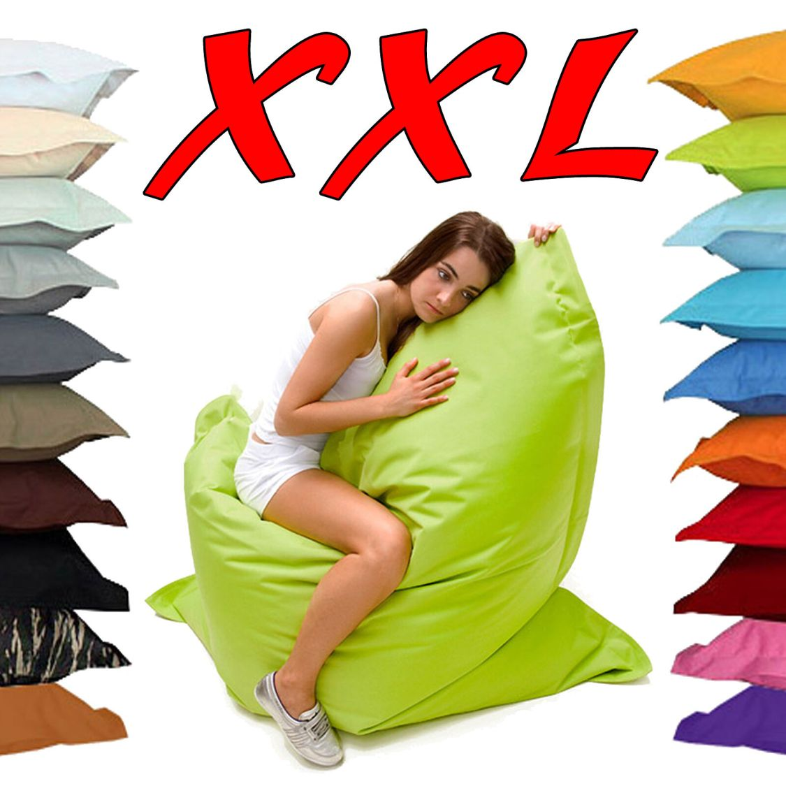 Sitzsack XXL - 180 x 140cm - Sitzkissen Premium Outdoor - 20 Farben