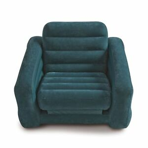 twin bed pull out chair and ottoman sets intex inflatable sofa dorm sleeper mattress navy