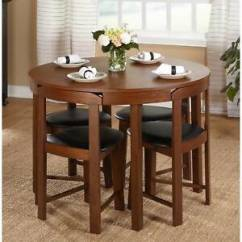 Solid Oak Dining Table And Chairs Waffle Chair Target Room Ebay 5 Piece Set Wood Kitchen 4 Compact Round Furniture