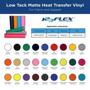 "Heat Transfer Vinyl For Tshirts - 20"" x 5 Foot Roll"