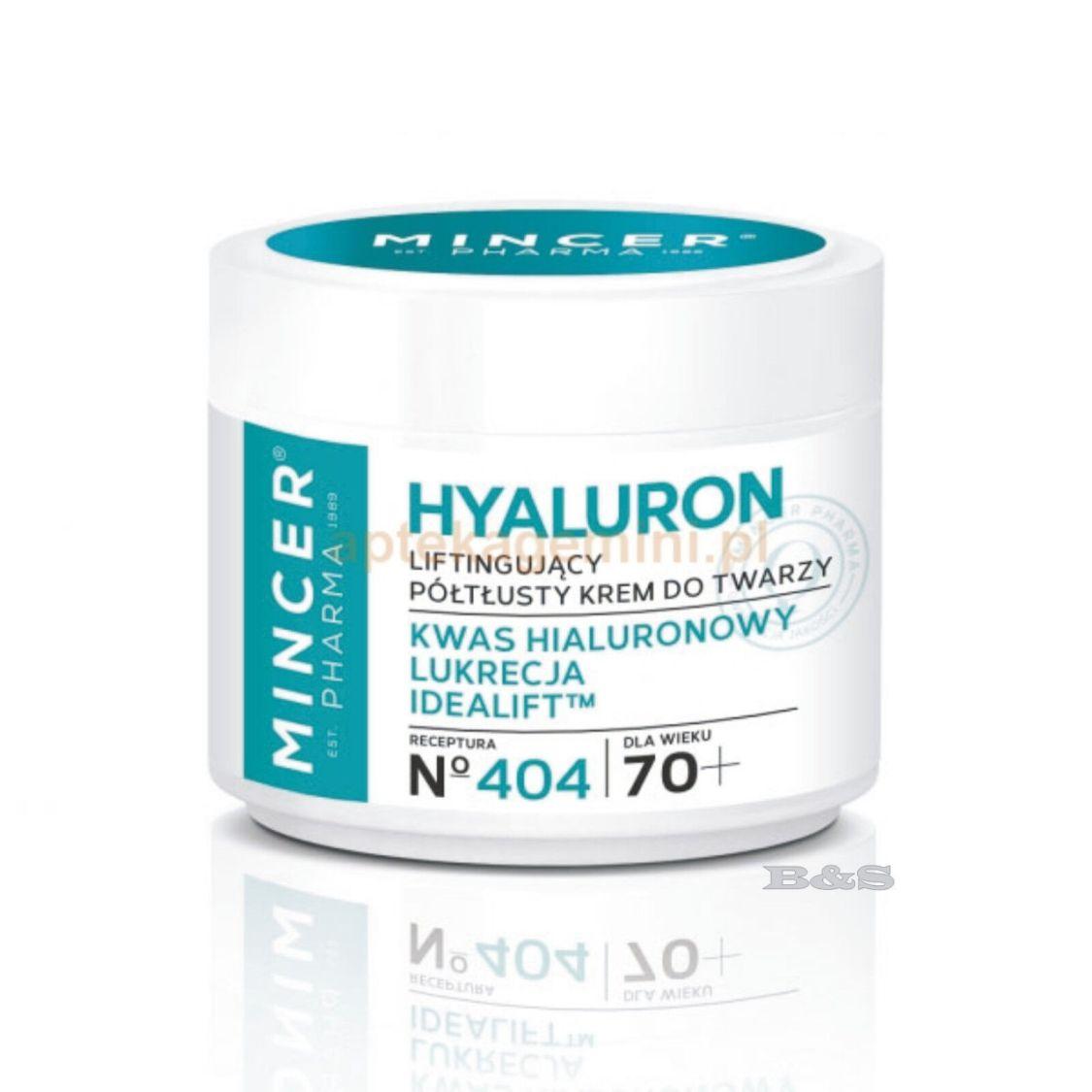 MINCER Pharma Gesichtcreme Antifalten, Hyaluronsäure LIFTINGCREME N°404 50 ml