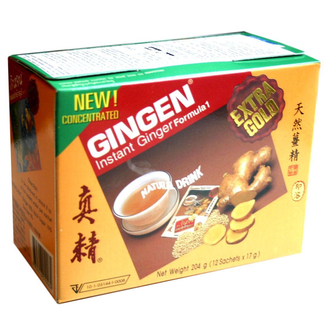 Gingen Thailändischer Instant Ingwer Tee Ginger Ingwertee mit Kandiszucker 204g