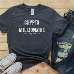 Bitcoin shirt, funny btc t-shirt, hodl cryptocurrency tshirt, crypto millionaire