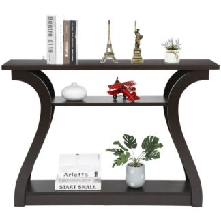 """47"""" Console Table with Drawer and 2  Shelves Narrow Sofa Side Table for Entryway"""