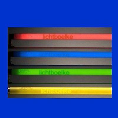 FARBIGE / Schwarzlicht  LEUCHTSTOFFRÖHRE LEUCHTSTOFFLAMPE 15W - 58W 45cm - 150cm