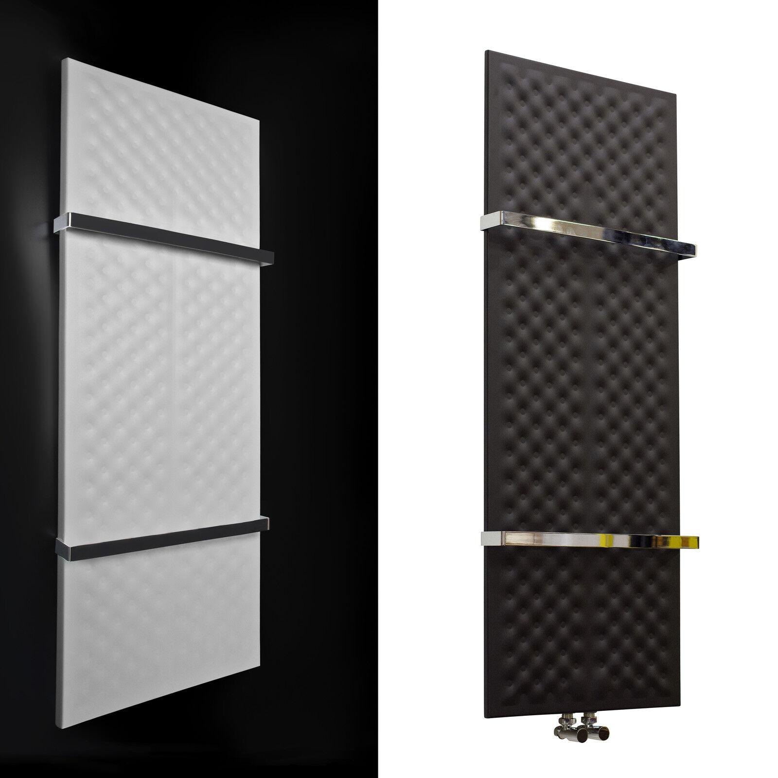 Designer Towel Rail Central Heating Bathroom Radiator Black Or White Chrome Bars Ebay