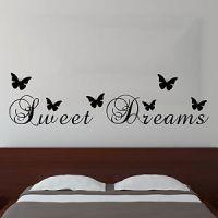Sweet Dreams Butterfly Vinyl Wall Sticker Quote | Bedroom ...