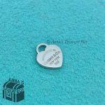 Tiffany & Co 925 Silver Mini RTT Heart Tag Charm